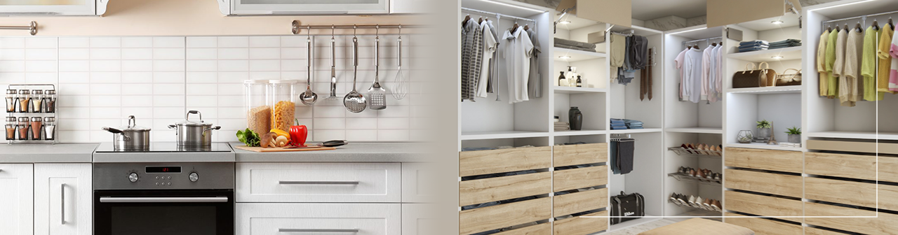 Cocina y Closets